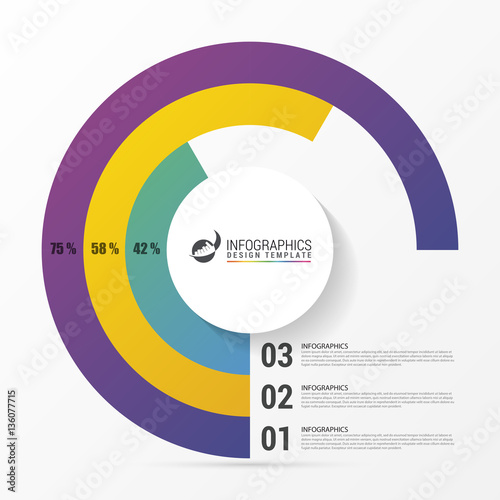 Pie Chart Circle Graph Modern Infographics Design Template Stock