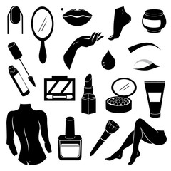 Make up vector icon collection.