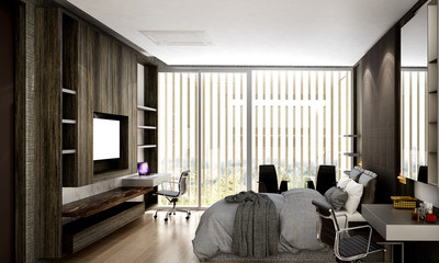 The interior design of bedroom