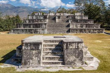 Ruins of the pre-Hispanic (pre-Colombian) town Zaculeu, Guatemal