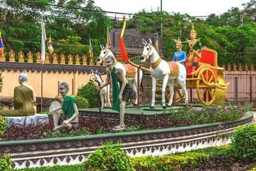 Buddhism temples Prumrot Vat, Siem Reap, Cambodia