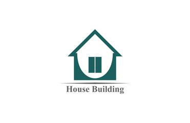 house building icon logo