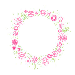 Minimalist floral background frame