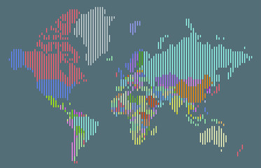 Search photos world map vector abstract colorful vertical bar world map gumiabroncs Images