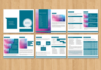 Teal Business Brochure Layout 1