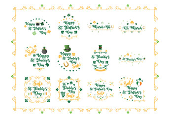 St. Patrick's Day Typography and Embellishment Illustrations 2