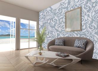 Home interior sea view