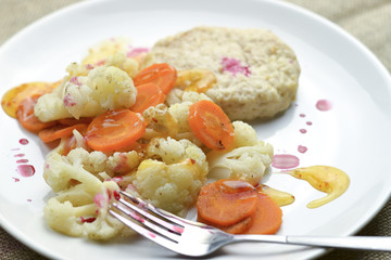 steamed vegetables,healthy food concept