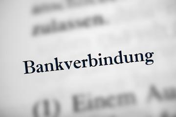Bankverbindung - Text
