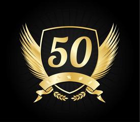 50 gold shield wings