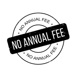 No Annual Fee rubber stamp. Grunge design with dust scratches. Effects can be easily removed for a clean, crisp look. Color is easily changed.