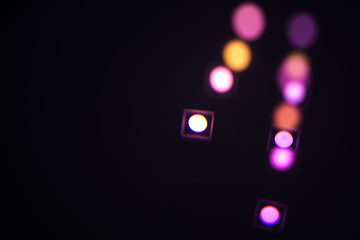 colored spots, abstract black background