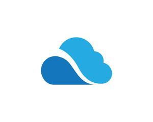 cloud technology vector logo template design vector