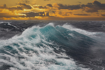 sea wave in atlantic ocean during storm