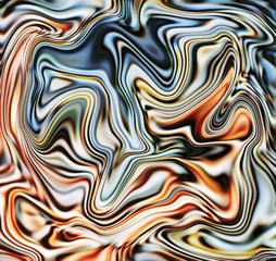 Bright marble abstract background. Mesh liquid surface digital illustration