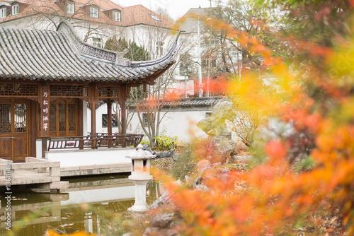 Herbst Im Chinesischer Garten Stuttgart Stock Photo And Royalty