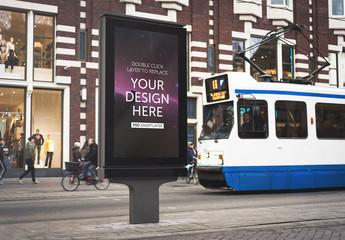Outdoor Kiosk Advertisement Mockup 2
