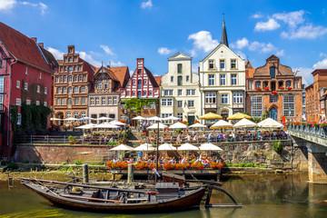 Lüneburg, Stintmarkt am Lüneburger Hafen,