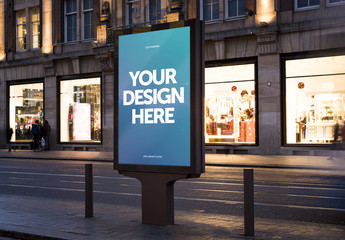 Outdoor Kiosk Advertisement Mockup 5