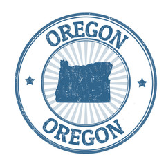 Oregon sign or stamp