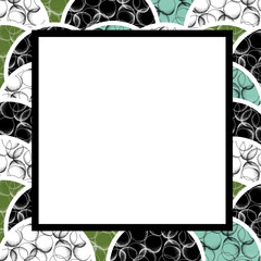 Abstract square frame with empty space