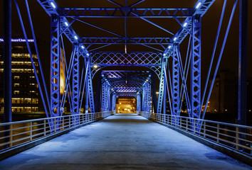 The Magical Blue Bridge Wall mural