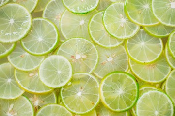 Slice of fresh lemon background