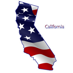 California full of American flag