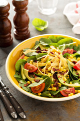 Mexican salad with corn and avocado