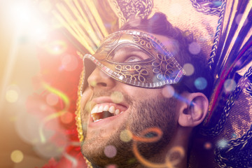 Man wearing carnival costume