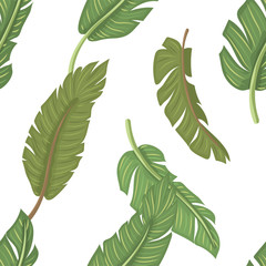 Seamless pattern with leaves vector illustration.