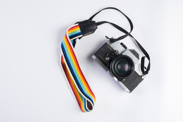 vintage camera isolate on white background.