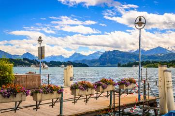 View of Lake Lucerne in summer season, Switzerland