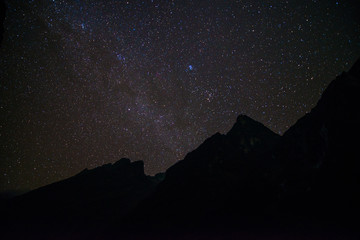 a lot of star over the mountain