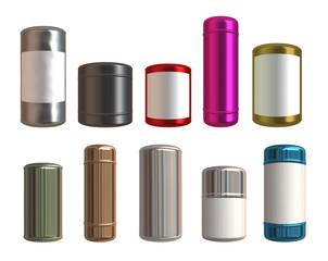 Set of   cans mockups  for design project