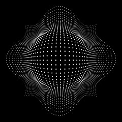 Abstract dotted vector waves