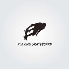 Skateboard freestyle jumping