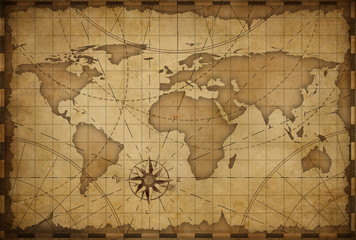 old world nautical map vintage background