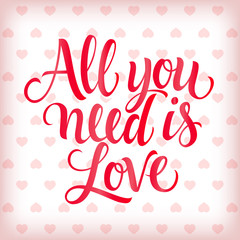 All You Need Is Love Inscription
