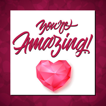 You Are Amazing Lettering with Border