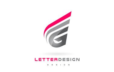 G Letter Logo Design. Futuristic Modern Lettering Concept.