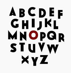 GrowBold, a sans serif vector decorative font for web and print, all caps