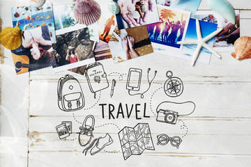 Holiday Travel Icon Vacation Concept