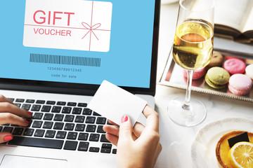 Gift Voucher Promo Code Concept