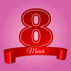 woman day 8 march pink banner vector illustration eps 10