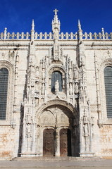 Entrance gate of the Jeronimos Monastery. Lisbon, Portugal