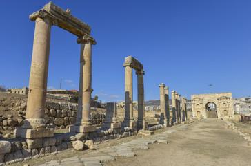 Ruinas de Jerash, antigua ciudad romana, Jordania