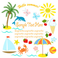 card, summer vacation