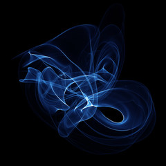 Abstract blue fume shape