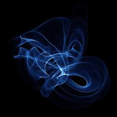 Abstract blue fume shape